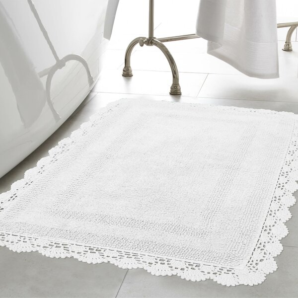 Crochet 100% Cotton Bath Rug by Laura Ashley Home